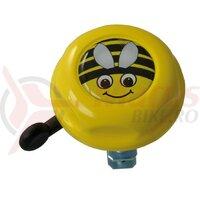 Sonerie copii Bee Doming Label gelb 55mm