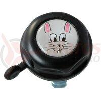 Sonerie pentru copii Rabbit Doming Label black, 55mm