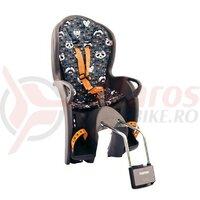 Scaun copii Hamax Kiss gri/portocaliu cu modele, prindere cadru