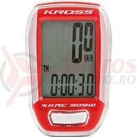 Kilometraj Kross KRC 309 9-functii wireless white/red
