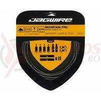 Kit bowden frana Jagwire MTB Pro (PCK400) diametru 5mm, Keb-SL /STS-PS Pro Polished, negru, 3000mm(include toate piesele necesare montarii) AM