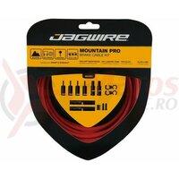 Kit bowden frana Jagwire MTB Pro (PCK404) diametru 5mm, Keb-SL /STS-PS Pro Polished, rosu, 3000mm(include toate piesele necesare montarii) AM