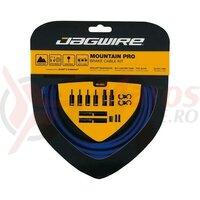 Kit bowden frana Jagwire MTB Pro (PCK405) diametru 5mm, Keb-SL /STS-PS Pro Polished, albastru, 3000mm(include toate piesele necesare montarii) AM
