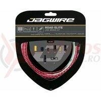 Kit bowden frana Jagwire Road Elite Link (RCK703) STS-EL Elite Polished rosu