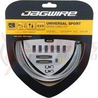 Kit bowden frana Jagwire Universal Sport(UCK418) diam. 5mm CGX ,alb inpletit 3000mm