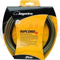 Kit bowden frana MTB Jagwire Ripcord Pro diametru 5mm carbon argintiu 'substrat de chevlar' 3000mm