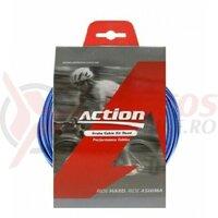 Kit bowden frana Road, Ashima Action AM-RBS-K1-KB-BU, 2P, diam.5mm, albastru (include toate piesele necesare montarii) AM
