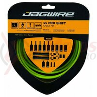 Kit bowden schimbator Jagwire 2 x Pro (PCK502) diam.4mm Lex-SL / STS-PS Pro Polished, verde organic, 3200mm (include toate piesele necesare montarii) AM