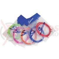Kit bowden si cablu frana MTB+Cursiera Saccon TWTW108S diam.5mm, roz (include bowden 2100mm si 2cabluri galvanizate 1800mm)