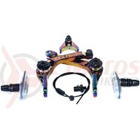 Kit frana BMX Colony Brethren Polished Rainbow Anodise