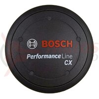 Kit Logo cover Performance Line CX, black, incl. spacer ring