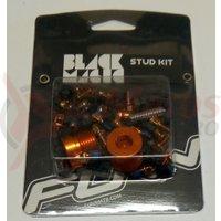 Kit pentru pedale Funn Black Magic (32 cuie schimbabile portocalii, cheie 4mm)