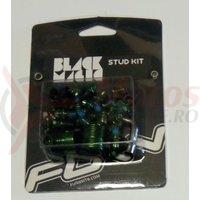 Kit pentru pedale Funn Black Magic (32 cuie schimbabile verzi, cheie 4mm)