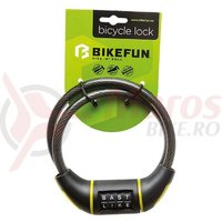 Lacat Bikefun Riddle 10x800 mm cu cifru