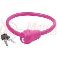 Lacat cu cheie 12x600mm roz S12.6S M-Wave