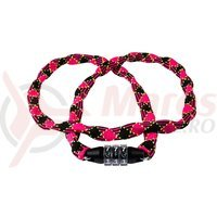 Lacat Cube RFR Chain Combination Lock Style CMPT roz/negru 3x3x1200mm