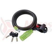 Lacat merida Lock 90*10mm negru/verde