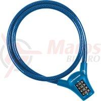 Lacat spiral cu cifru Kross KZS 400 10 mm x 1000 mm blue