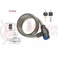 Lacat Tonyon TY556, 12X1000 cu cheie, negru