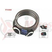 Lacat Tonyon TY563, 8X1000 cu cifru, negru