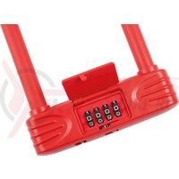Lacat U-Lock cu cifru Kross KZU 250 146 mm x 227 5 mm red