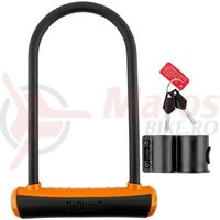 Lacat U-Lock Onguard Neon 8153 115x230 mm negru/orange