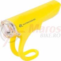 Lampa fata Kross Silky 1 LED 3 functii yellow