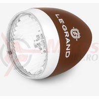 Lampa fata pentru dinam Le Grand Sunrise 5 leduri brown