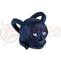 Lampa fata / Sclipitor - mini, baterii, 2 led, skull / craniu, negru