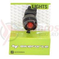 Lampa spate BikeForce Knob Black 2 functii