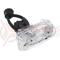 Lampa spate Cateye blitz auto TL-AU330-R cu colier flex tight + batterii