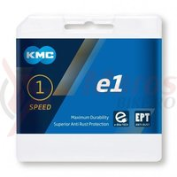 Lant KMC E 1 single speed e-bike 1/2x1/8 110 zale argintiu
