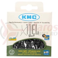 """Lant KMC X 11 EL negru 118 zale """"BlackTech"""""""