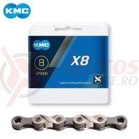Lant KMC X8 8 viteze MTB 1/2x3/32 116 zale