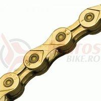 Lant KMC X9L 1/2x1/128, 9 viteze, 116L gold