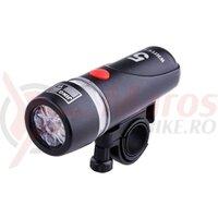 Lanterna Fata - 5 LED, 4 functii, neagra, baterii