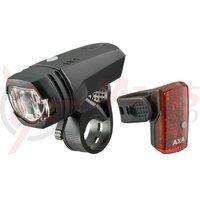 Lumina LED AXA GreenLine 50 Set incl. rear light 1 LED + USB cable
