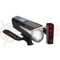 Set lumini LED battery BLC 820 negru cu acumulator, StopTech