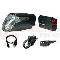 Lumini fata spate LED Trelock I-go Power LS 460/720 black, 40 lux