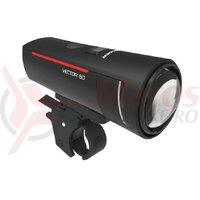 Far fata LED Trelock I-go Vector 60 LS 600, black, cu prindere ZL300,60 lux