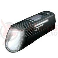 Far fata LED Trelock I-go Vision LS 760 black cu suport prindere 760