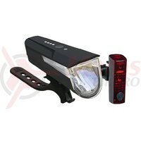 Set Lumini LED battery lighting BLC 610 negru cu baterii, w. StVZO