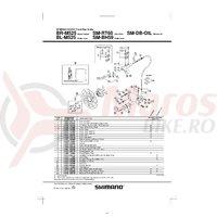 Lid unit Shimano BL-M525 stanga