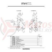 Lid unit Shimano ST-M775