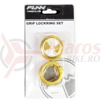 Lock ring cu bar ends FUNN COMBAT laser logo aurii