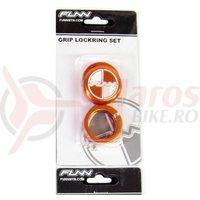 Lock ring cu bar ends FUNN COMBAT laser logo portocalii