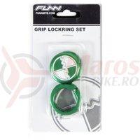 Lock ring cu bar ends FUNN COMBAT laser logo verde
