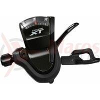 Maneta de schimbator Shimano Deore XT SL-T8000, stanga, 3 vit., cablu 1800mm