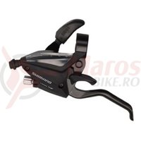 Maneta schimbator/frana Shimano ST-EF500-L-2A stanga 3v cablu 1800mm 2 degete negru
