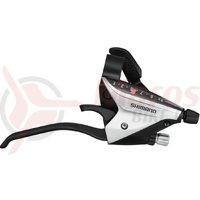 Maneta schimbator/frana Shimano ST-EF65-L-2A Stanga 3v Argintiu Vrac